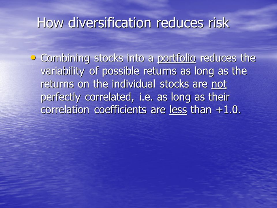 How diversification reduces risk