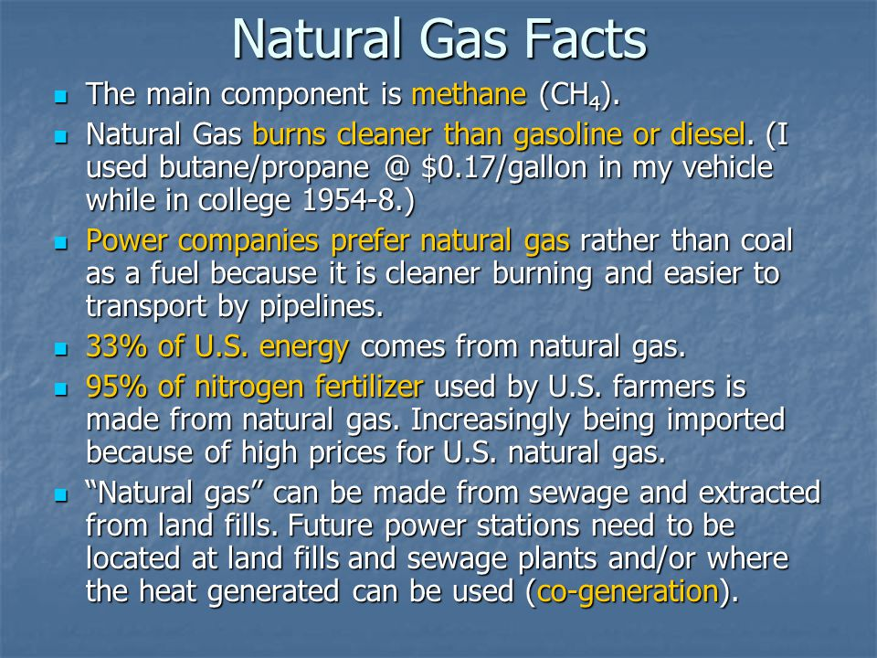 What Is Natural Gas Mostly Made Of
