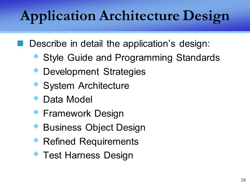 describe a workplace application architecture and process design Processes, computers, design, and production systems in the production of products and structures related to topics such as: architectural drawing and print design, design documentation using cad intensive laboratory applications are a component of this course and may be either school based or.