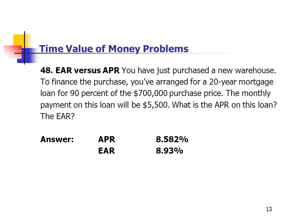 Time Value of Money Problems