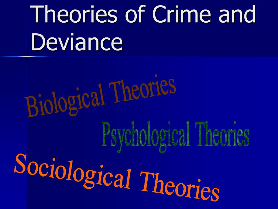 Theories of Crime: Classical, Biological, Sociological, Interactionist