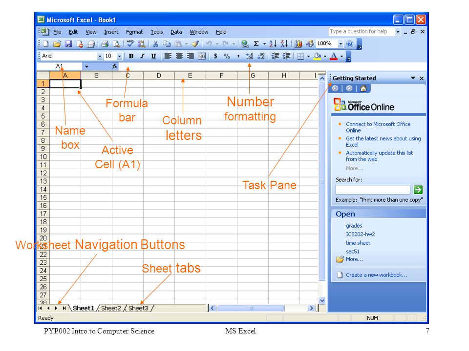 ms excel sheet
