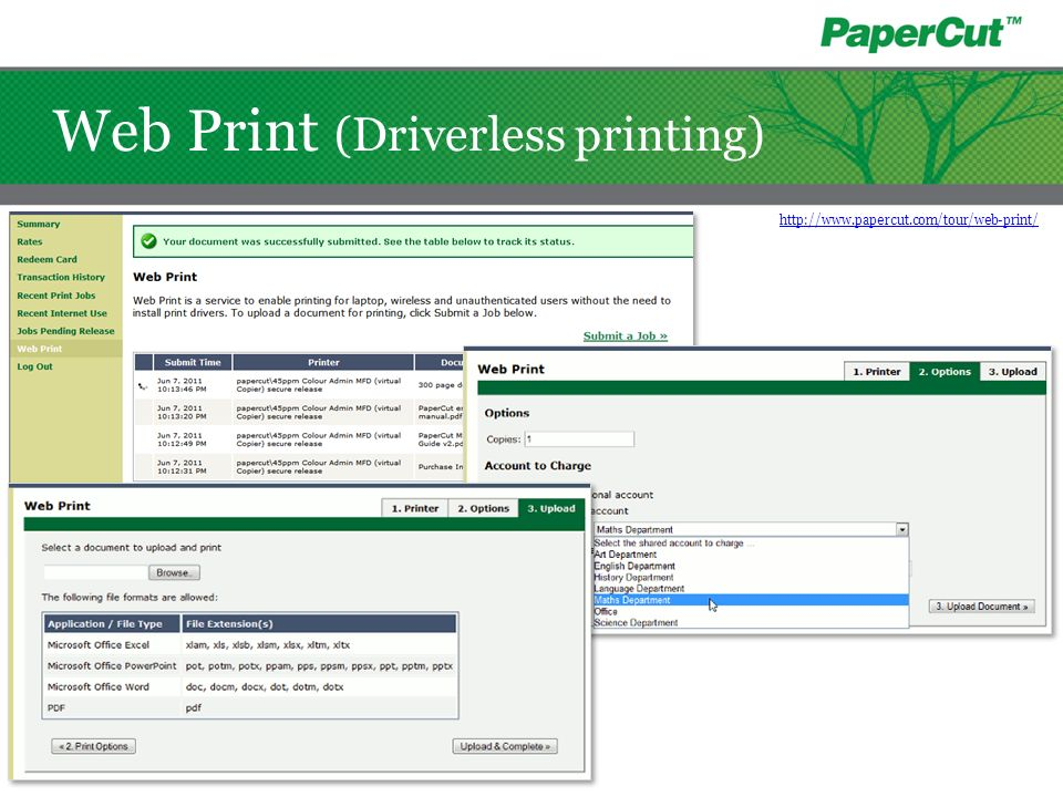 Web Print (Driverless printing)