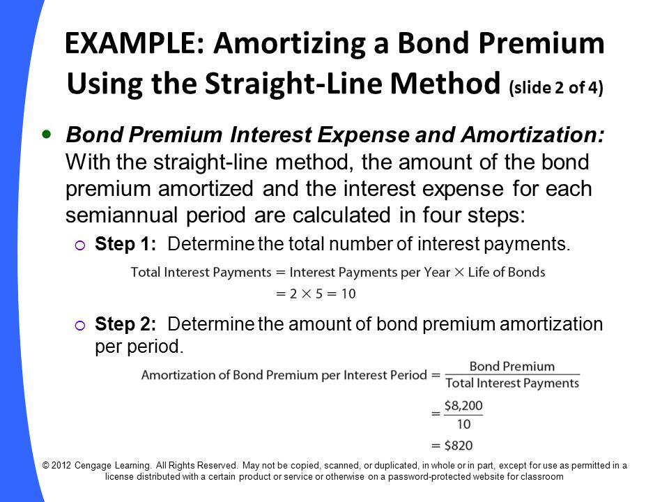 premium bond amortization