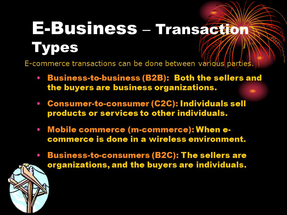 E-Business – Transaction Types