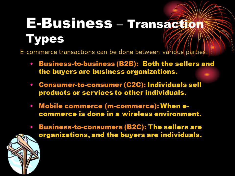 E-Business – Transaction Types