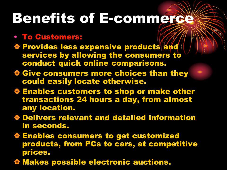 Benefits of E-commerce