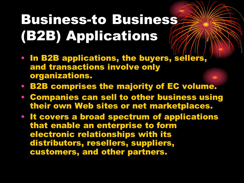 Business-to Business (B2B) Applications