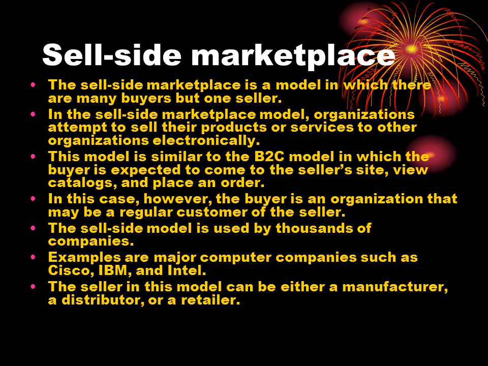 Sell-side marketplace