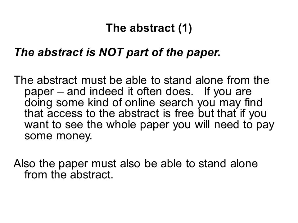 abstract part of the thesis Your abstract should be an accurate representation of your thesis: - to let other researchers decide if they want to read the thesis - to make your thesis easy to of your whole thesis • highlight the objectives and conclusions from your introduction and conclusion chapters • underline keywords from your methods section.