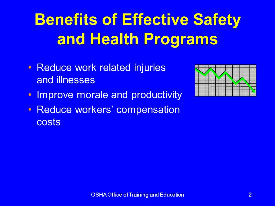 Benefits of Effective Safety and Health Programs