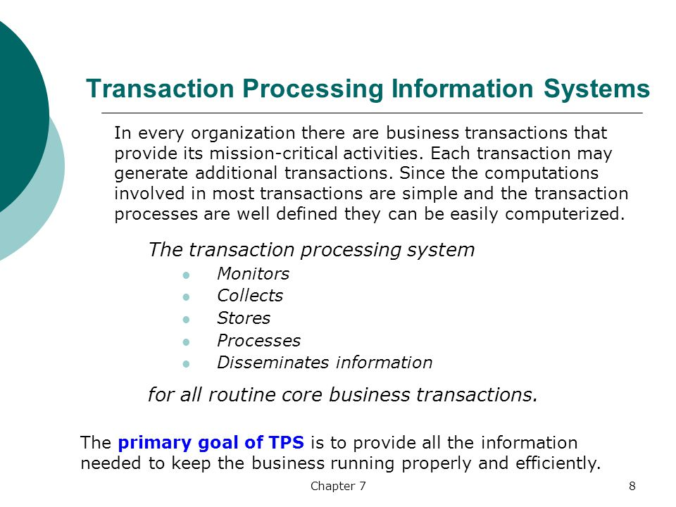 company transaction processing system A transaction processing system or transaction processing monitor is a set of company transactions (a transaction is defined as an exchange between two or.