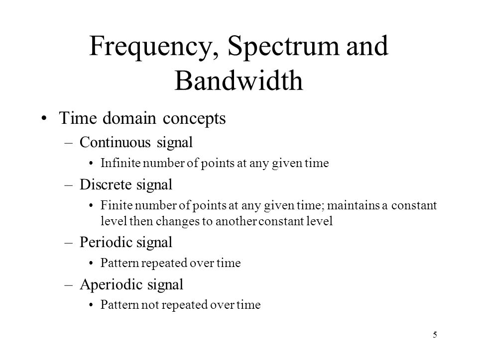 Frequency, Spectrum and Bandwidth