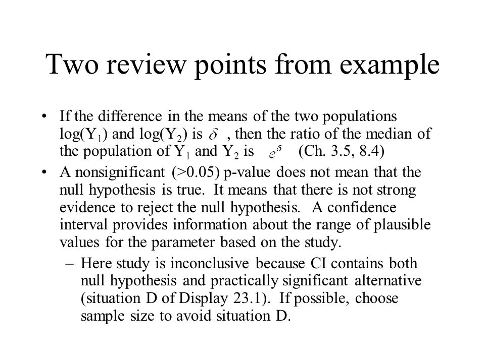 Two review points from example