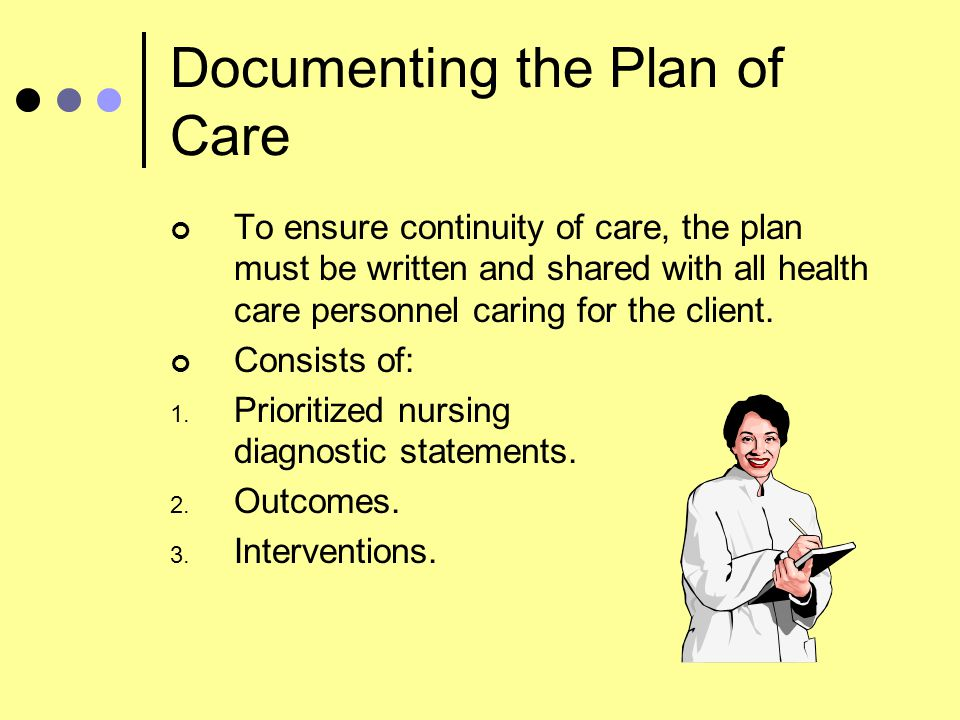 Documenting the Plan of Care