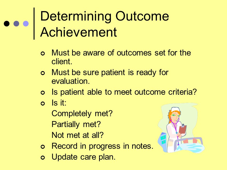 Determining Outcome Achievement