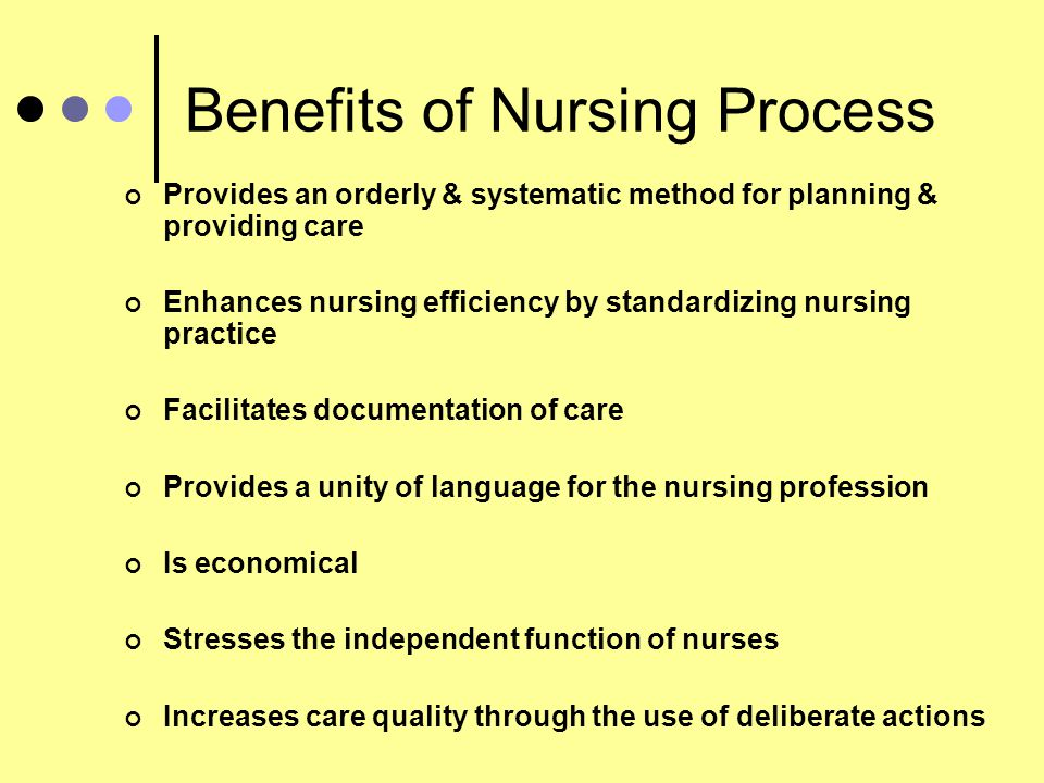 Benefits of Nursing Process