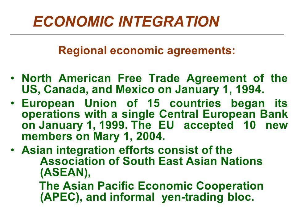 Regional Analysis North American Free Trade Agreement Homework