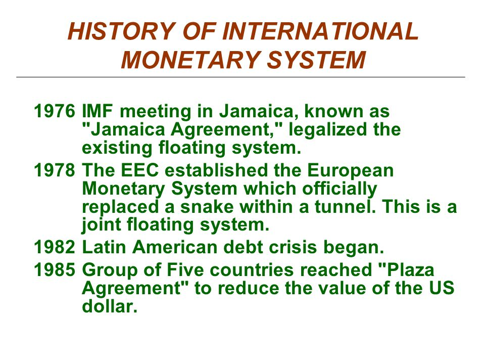 "history of international monetary system ""the earliest function of coinage was profit accepted at face value as if they had a high gold content, the lydian staters started out with a high proportion of."