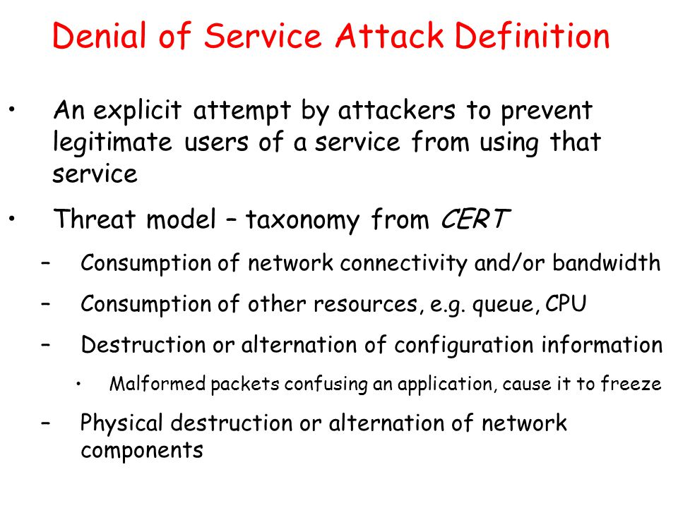 how to fix denial of service attack
