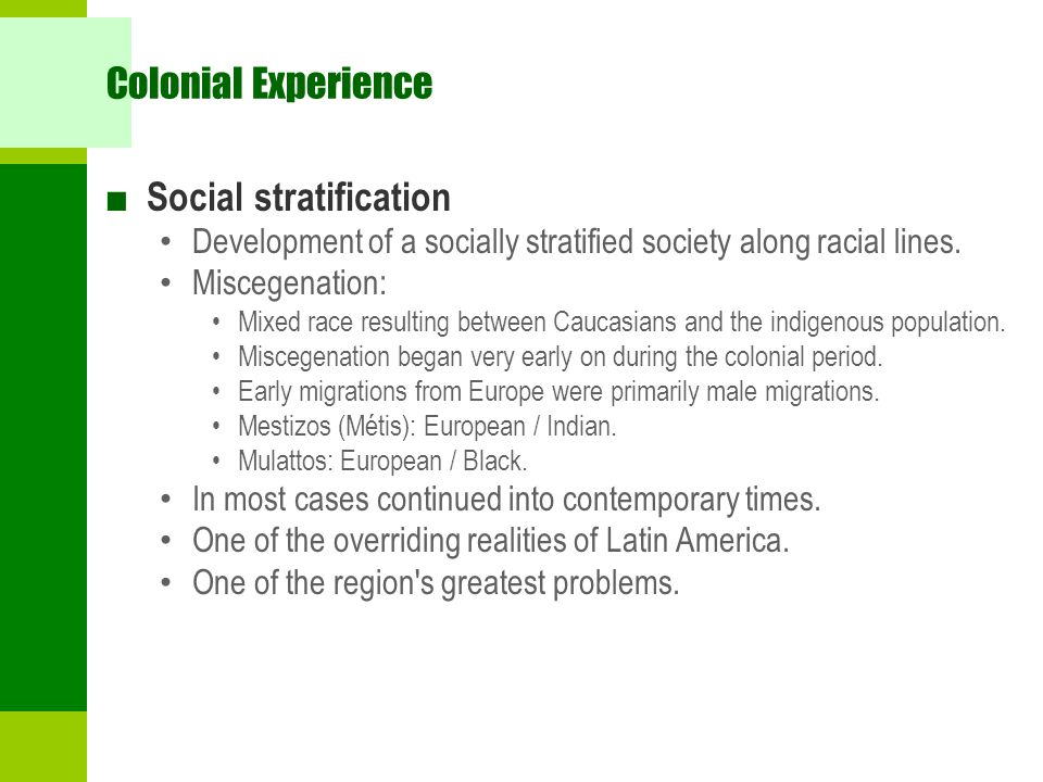 Social stratification implications of race on