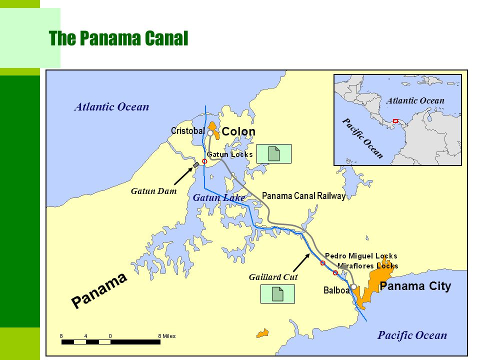 a history of the panama canal a waterway between the pacific ocean and the atlantic ocean Panama canal, spanish canal de panamá, lock-type canal, owned and administered by the republic of panama, that connects the atlantic and pacific oceans through the narrow isthmus of panama the length of the panama canal from shoreline to shoreline is about 40 miles (65 km) and from deep water in the atlantic (more specifically, the caribbean.