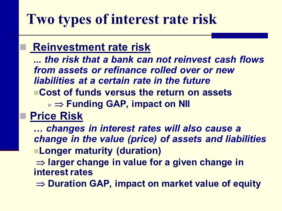 interest rate risk Learn how to mitigate the risk of rising or falling interest rates using some simple strategies.