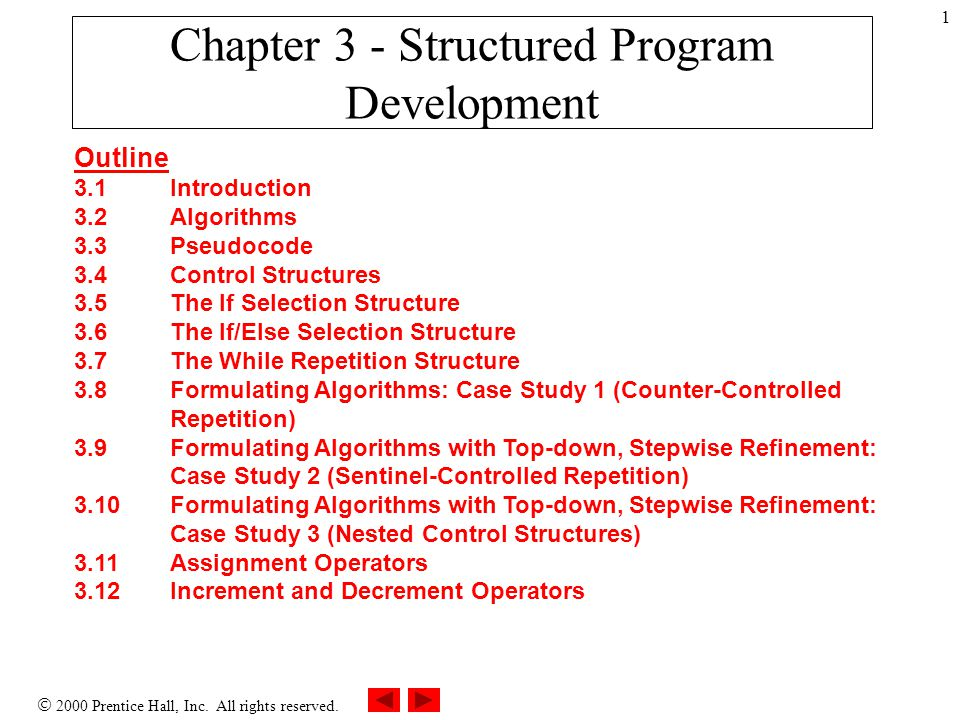 Chapter 3 - Structured Program Development