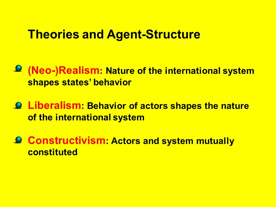 Theories and Agent-Structure