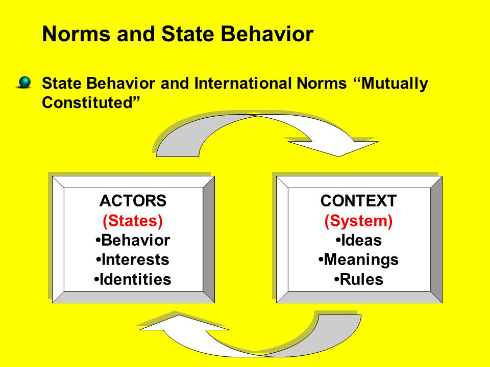 Norms and State Behavior
