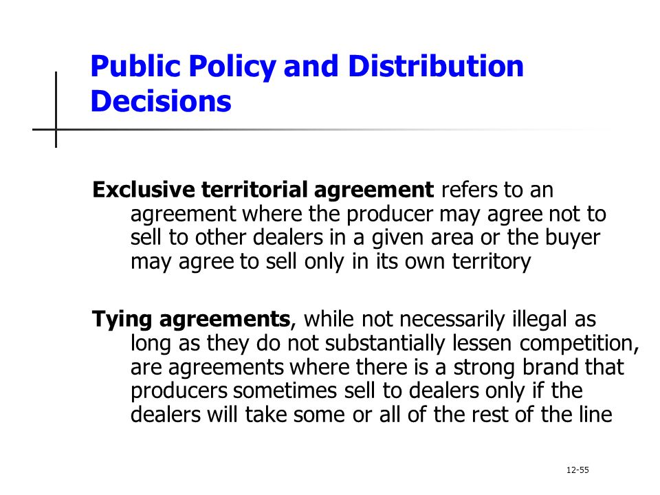 Principles of marketing ppt video online download 25 public policy and distribution decisions exclusive territorial agreement platinumwayz