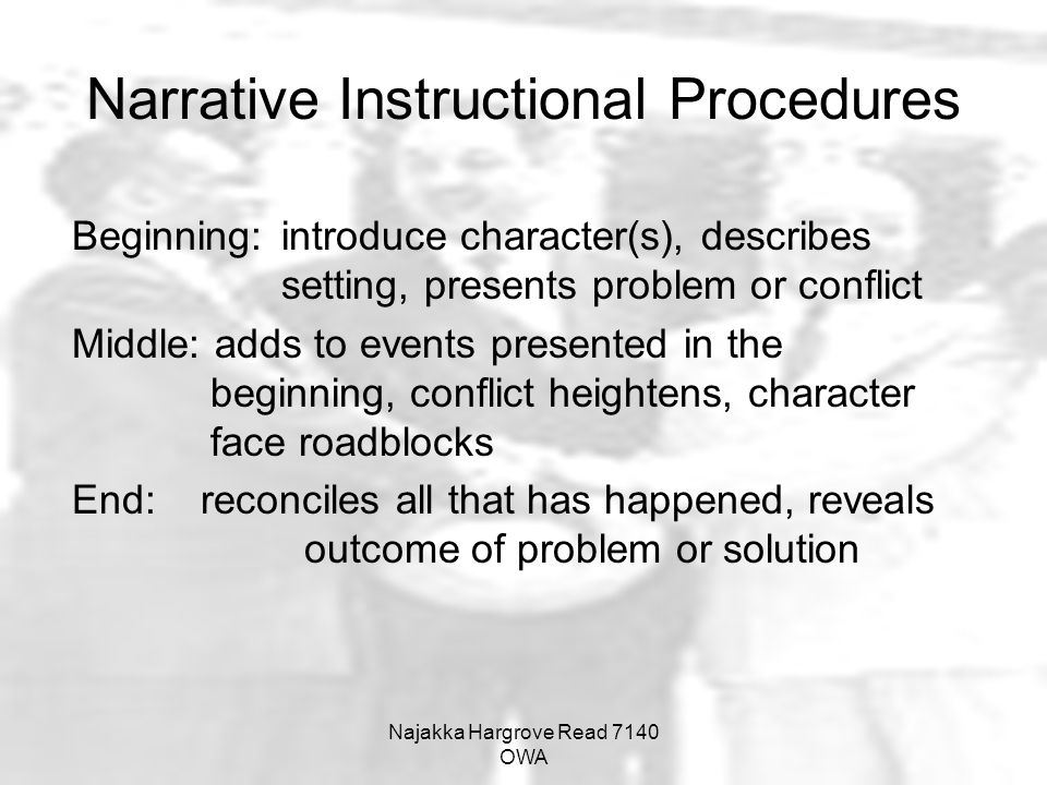 Narrative Instructional Procedures
