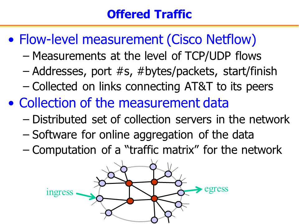 Flow-level measurement (Cisco Netflow)