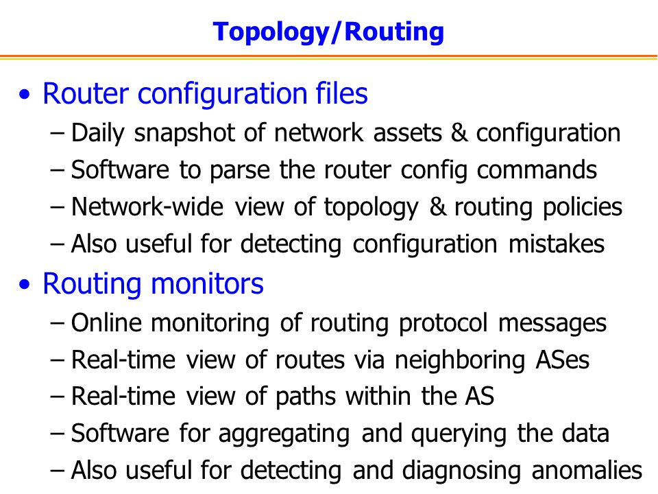 Router configuration files