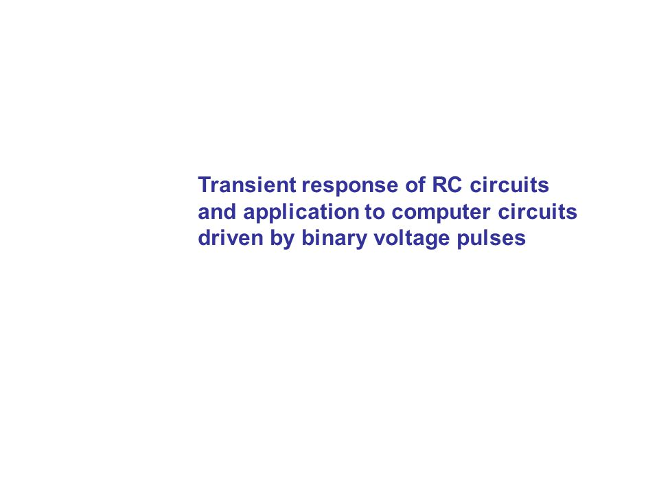Transient response of RC circuits