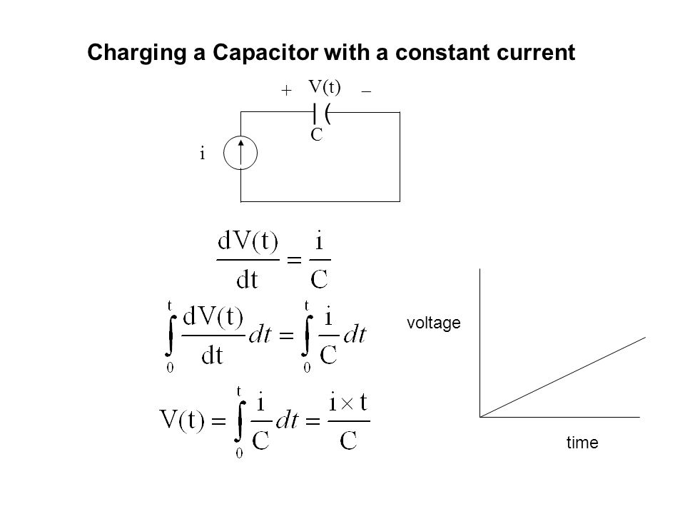 Charging a Capacitor with a constant current