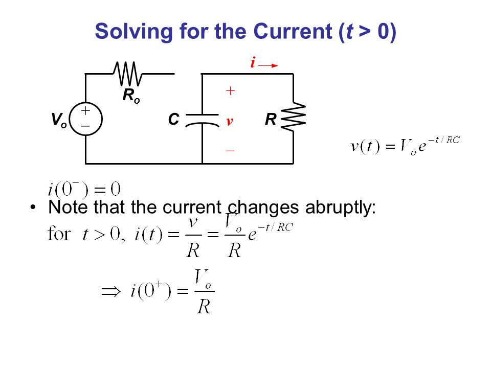 Solving for the Current (t > 0)