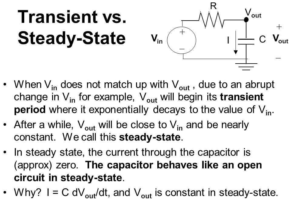 Transient vs. Steady-State