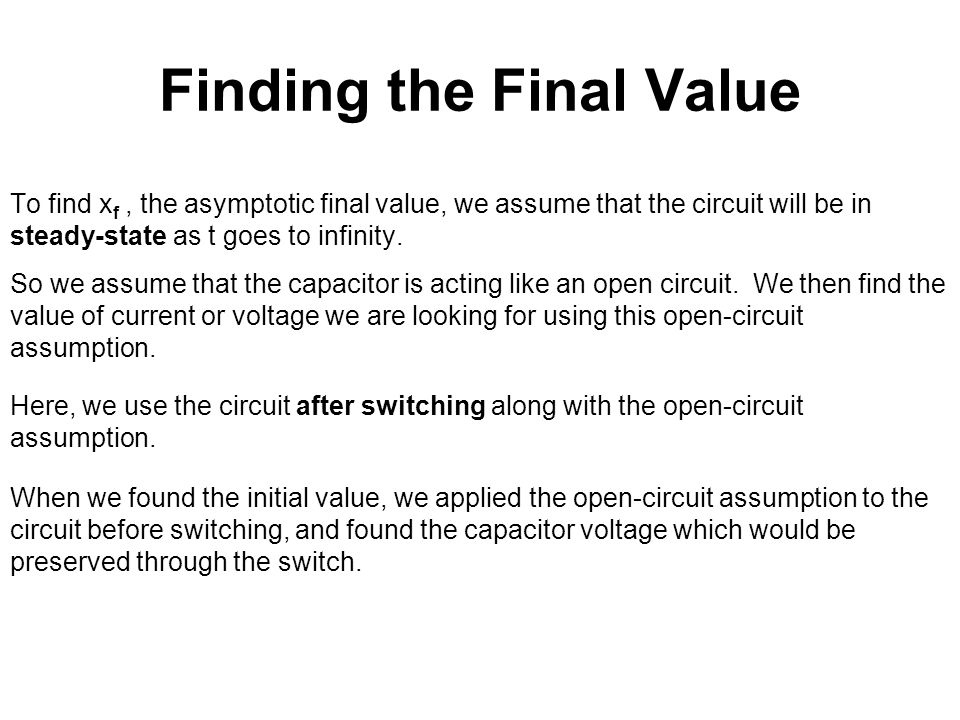 Finding the Final Value
