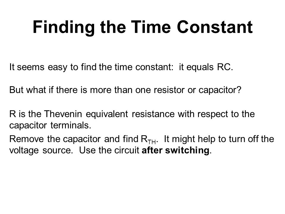 Finding the Time Constant