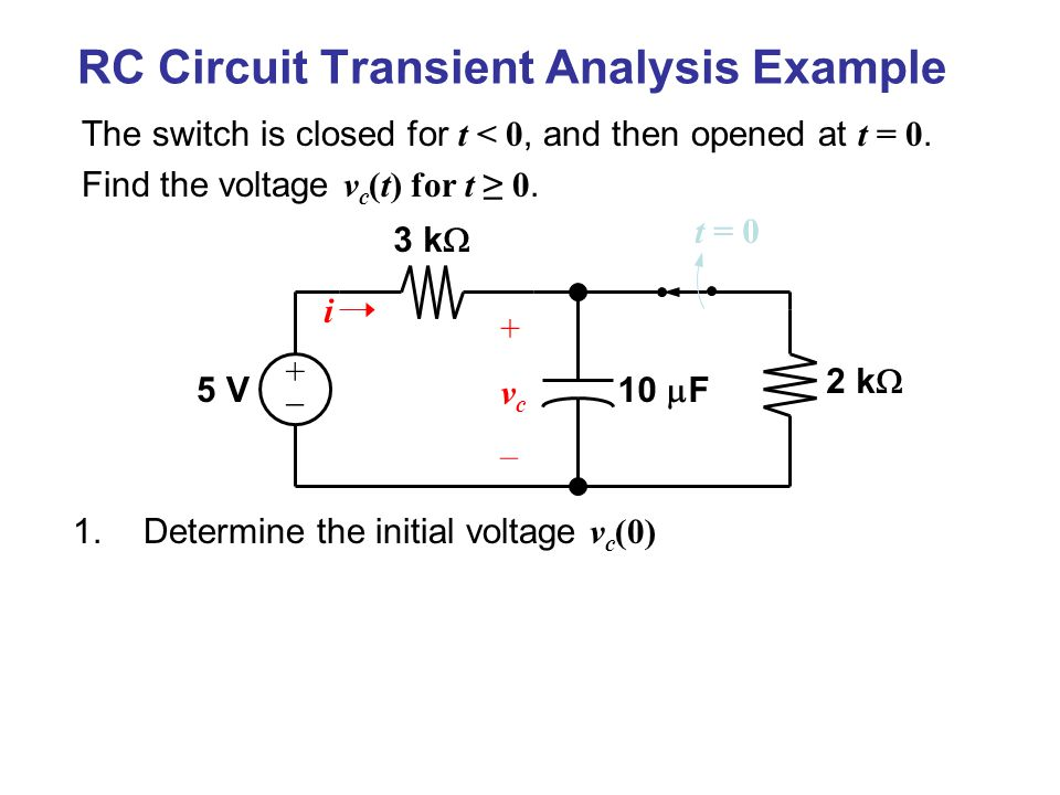 Transient Excitation of First-Order Circuits - ppt video online ...