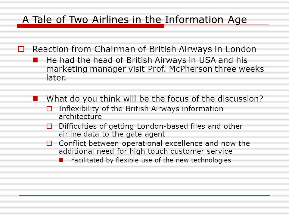 a tale of two airlines case A tale of two conventions  he works for delta airlines  largely bypassed the people and took their case, instead,.