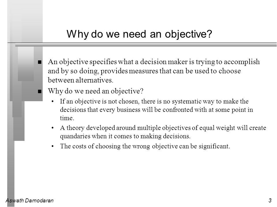 The Objective in Corporate Finance - ppt download