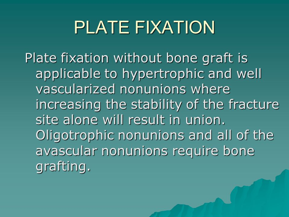 PLATE FIXATION