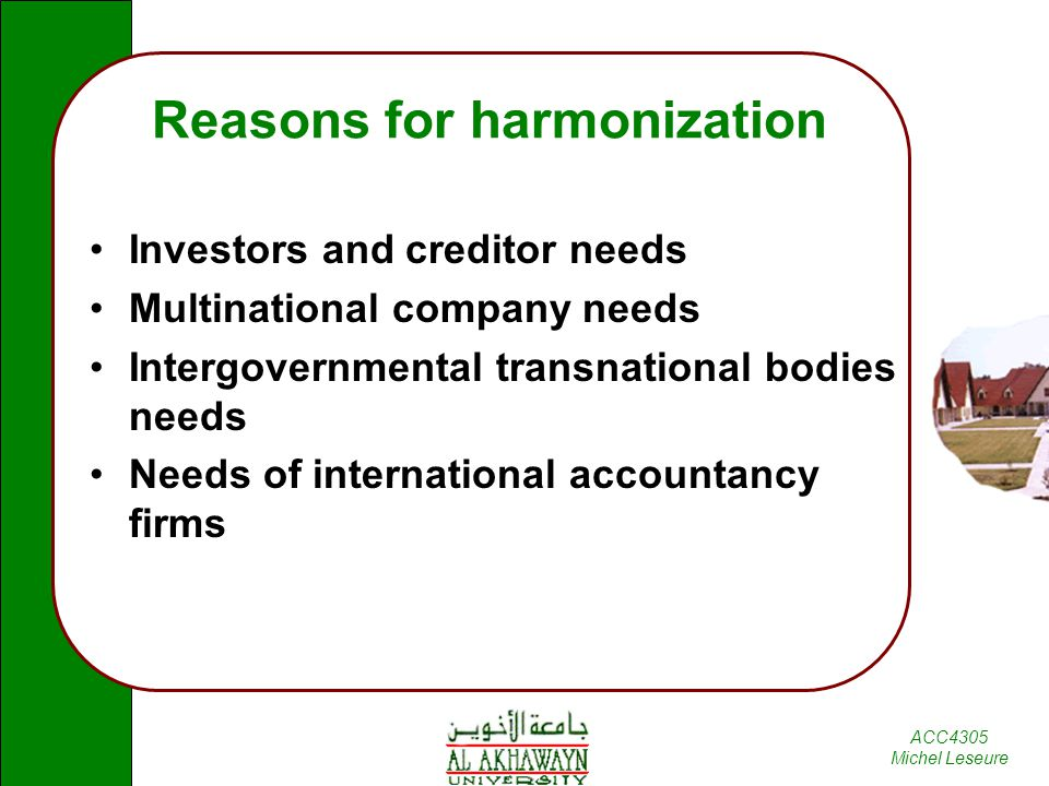 measuring international accounting harmonization This paper analyses six recent studies dealing with the measurement of  international harmonization of financial reporting methodological issues and  problems.