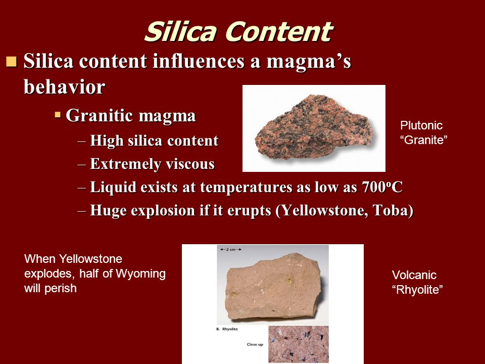 Basalt Silica Content Of : Types of rock include igneous sedimentary and metamorphic
