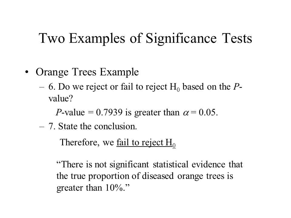 how to know if there is statistical significance