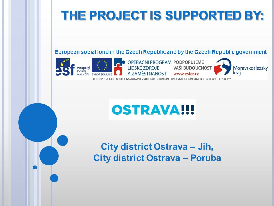 THE PROJECT IS SUPPORTED BY: