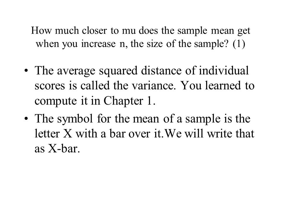 The standard error of the sample mean and confidence intervals ...
