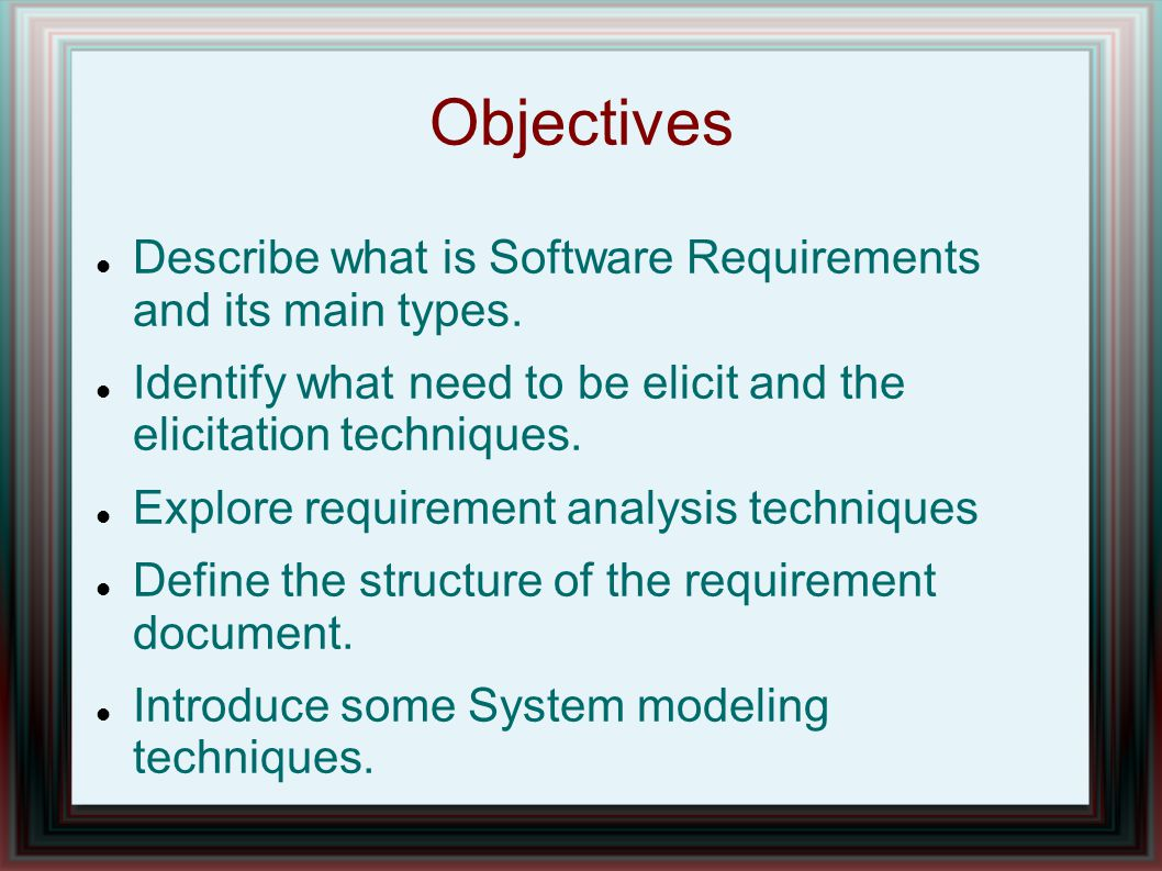 system modeling requirement analysis essay Change propagation analysis for system modeling using semantic web technology  system modeling language  the system requirement (distiller requirement .